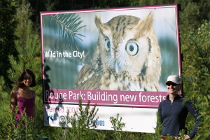 Rouge Park restoration sign: Site 2004A